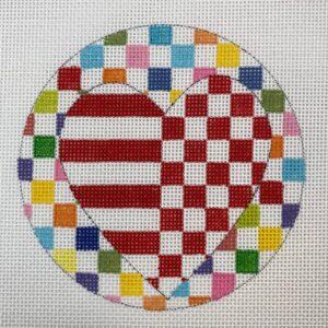 Round Heart Ornament